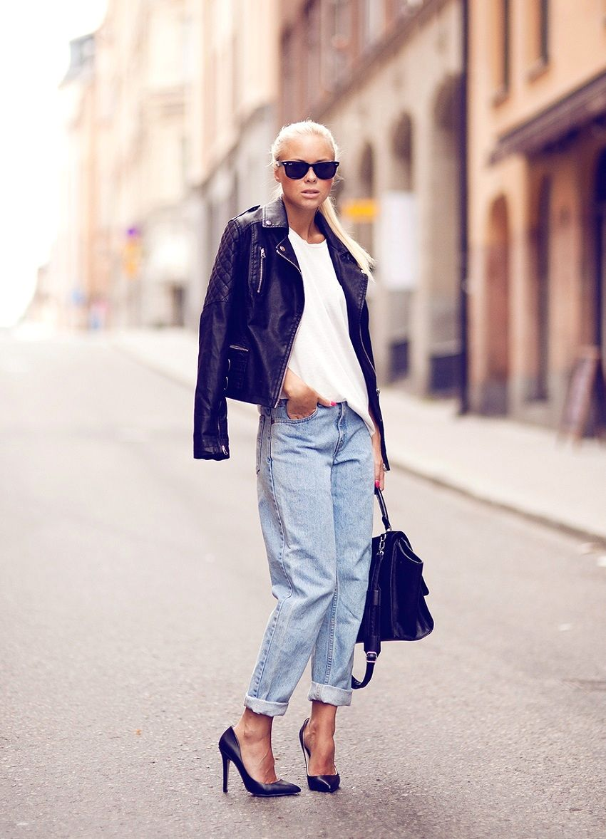 girlfriend knows how to work a denim/moto combo so well. #VictoriaTornegren does it again.