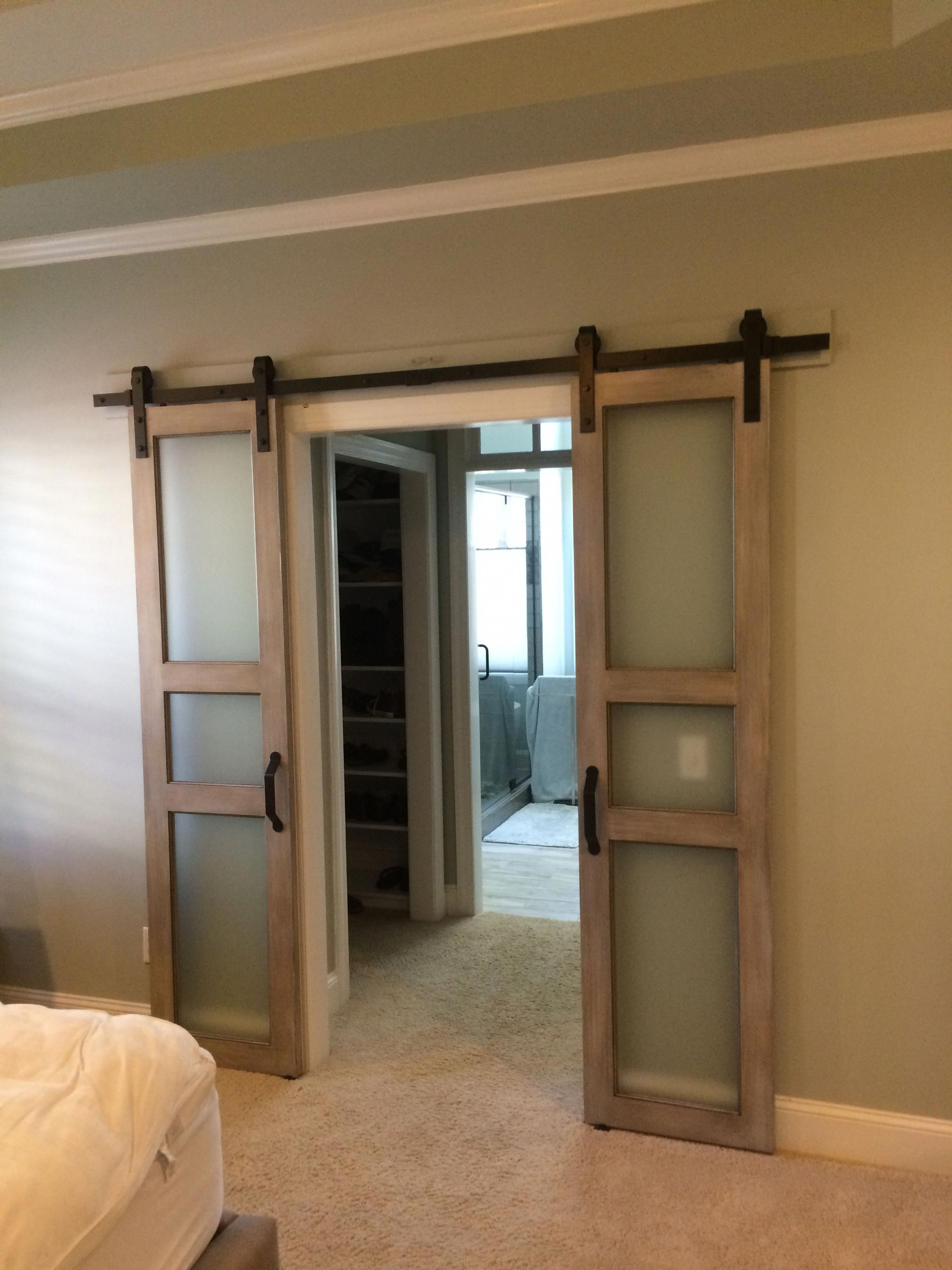 Interior Double Barn Doors Door Sliding Closet