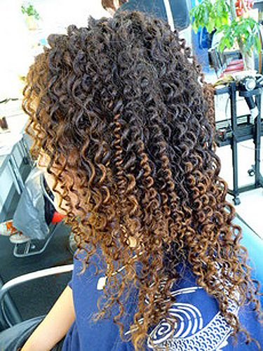 Long Hair Tight Curly Spiral Perm Curly Permed Hair