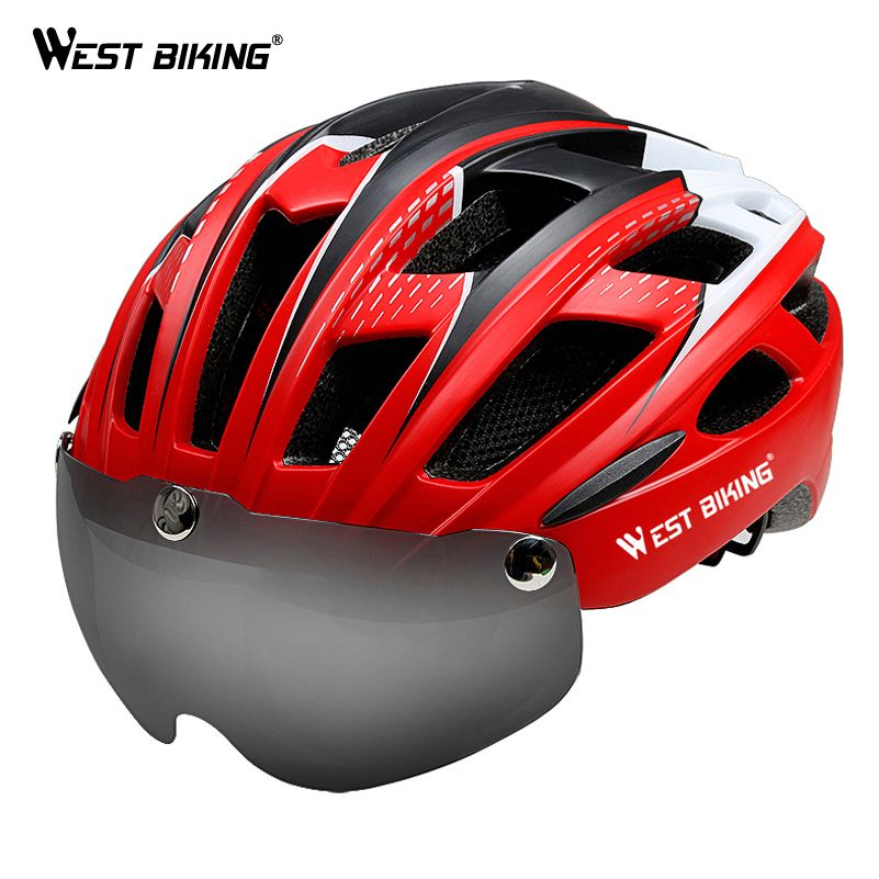 West Biking Goggles Bicycle Helmet Integrally Molded Ultralight