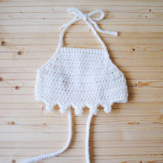 Crochet Baby Crop Top, Baby Crop Top, Ivory Baby Crop Top, Baby ...