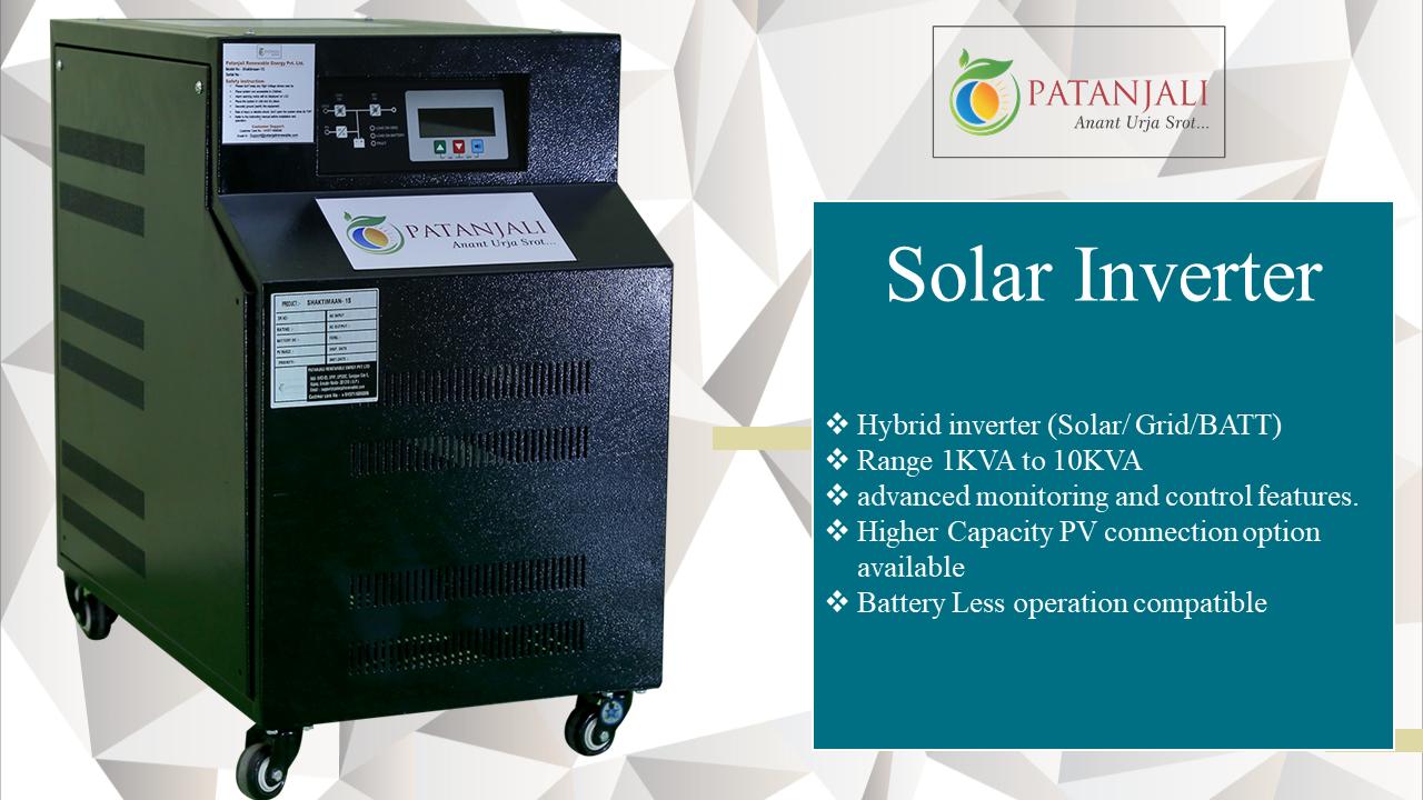 Patanjali Solar Inverter Range 1kva To 10kva For More Info Call 81 81300 38700 Email Sales Patanjalirene Solar Panel Manufacturers Solar Solar House