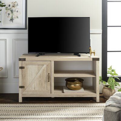 Gracie Oaks Sheehy Eclosed Storage Tv Stand For Tvs Up To 50 Inches Tv Stand With Storage Farmhouse Tv Stand Barn Door Tv Stand