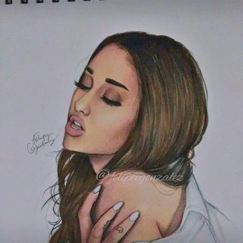Felipegonzalez drawing ♡yasss · ariana grande