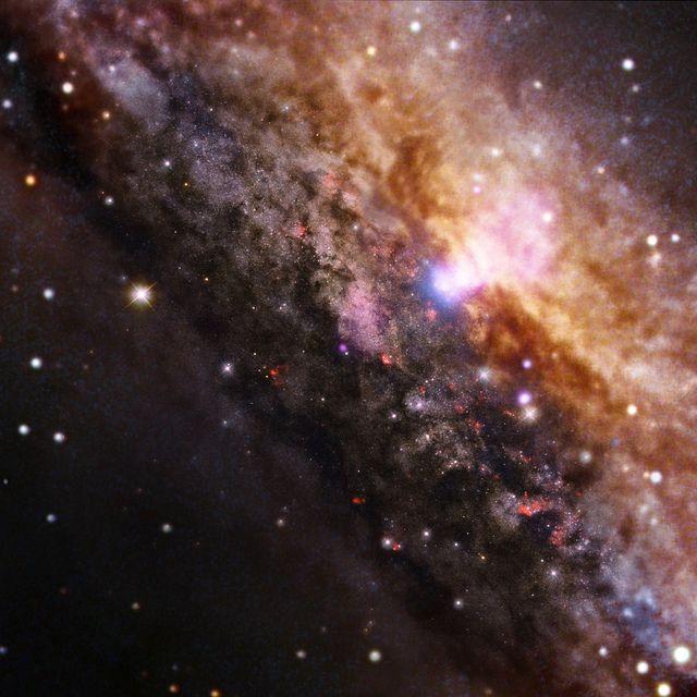 Galaxy NGC 4945 (NASA, Chandra, 10/28/13)