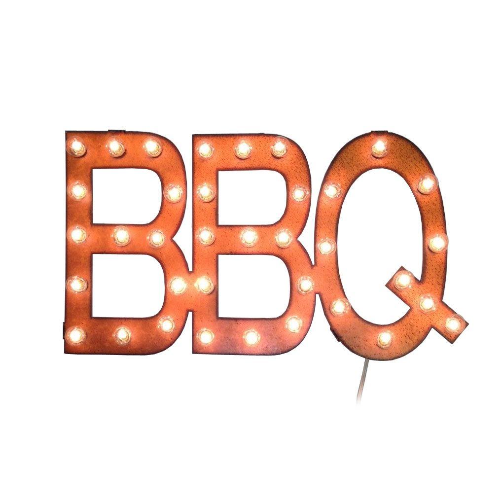 Light Up Kitchen Signs: Light-Up BBQ Sign