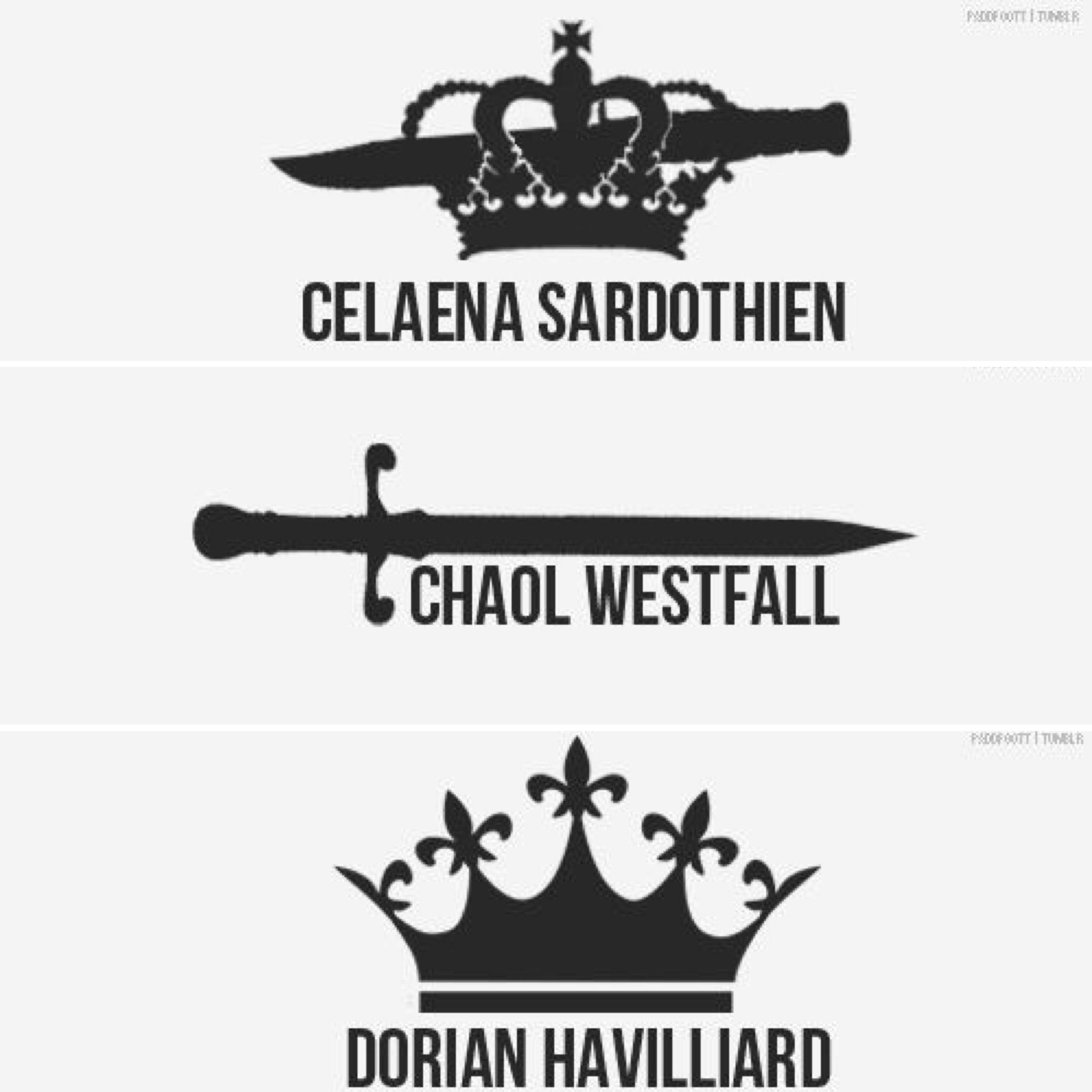 Celaena Sardothien ~ Chaol Westfall ~ Dorian Havilliard