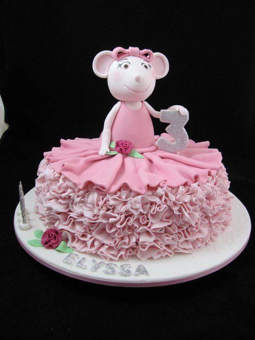 Angelina ballerina by denise cake for Ballerina cake decoration