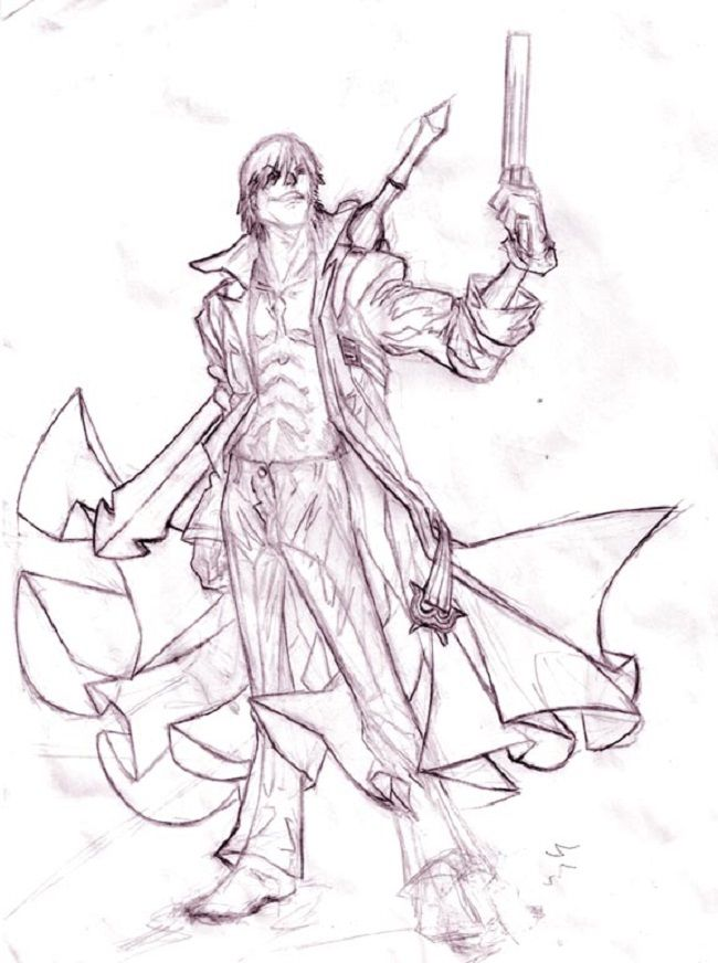 devil may cry 4 coloring pages | coloring Pages | Pinterest | Devil ...
