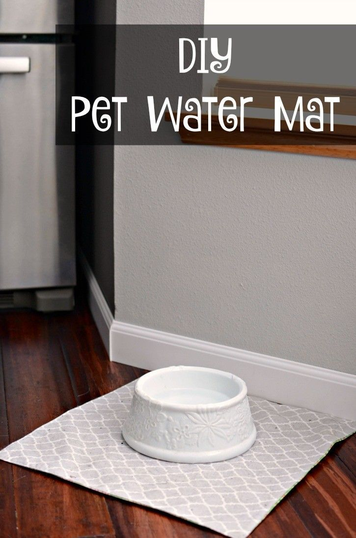 Diy Waterproof Pet Water Dish Mat Diy Dog Food Dog Bowl Mat Diy Dog Stuff