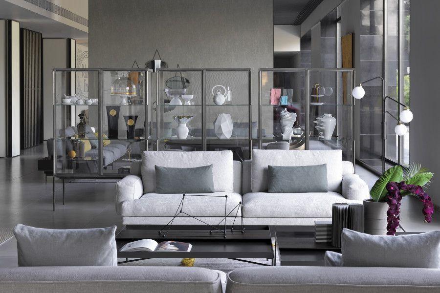 luxury design brand showroom with b b italia and maxalto lema