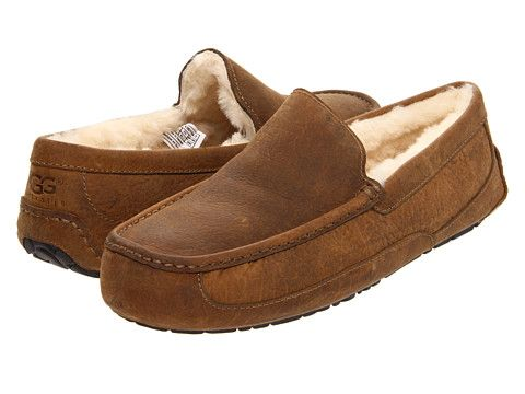 UGG Ascot Chestnut Leather - 6pm.com $82