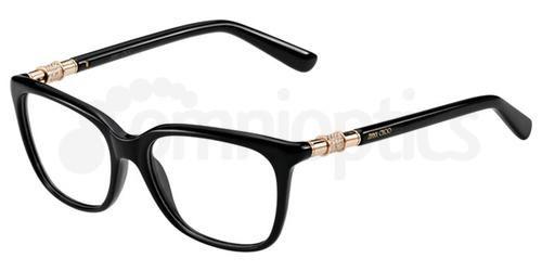 ede32873f7c Jimmy Choo 60 807 Black Prescription Eyeglasses Overstockcom