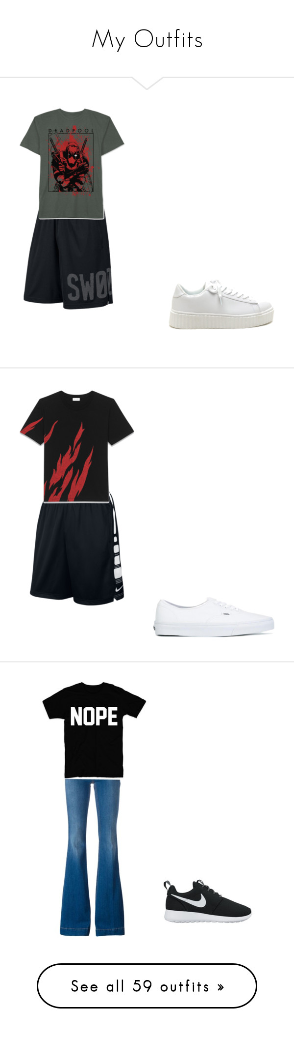 """""""My Outfits"""" by sierra-ivy on Polyvore featuring NIKE, JEM, Vans, Yves Saint Laurent, STELLA McCARTNEY, Hollister Co., Gucci, Dr. Scholl's, Rask and J.Crew"""