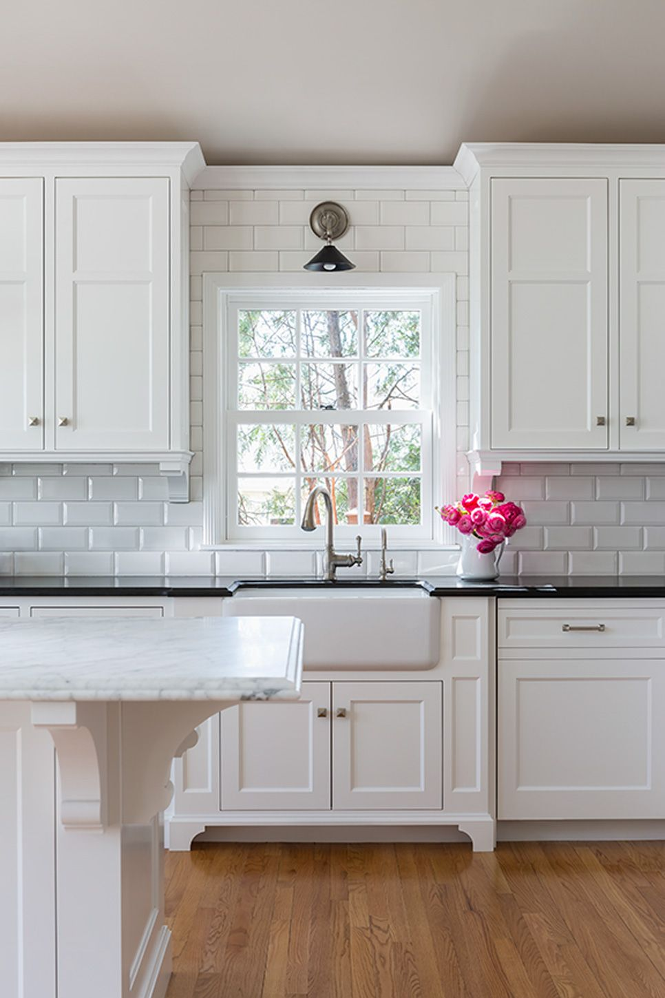 White Tiles Kit He D With White Cabinetry Check Out This Image From The Urban Electric Co Kitchen Design Home Kitchens Trendy Kitchen