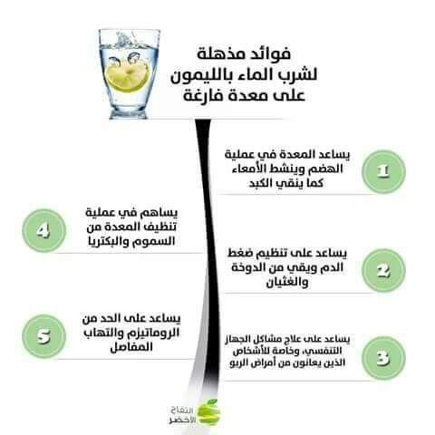 شرب الماء بالليمون على معدة فارغة Keeping Healthy Health Healthy Life
