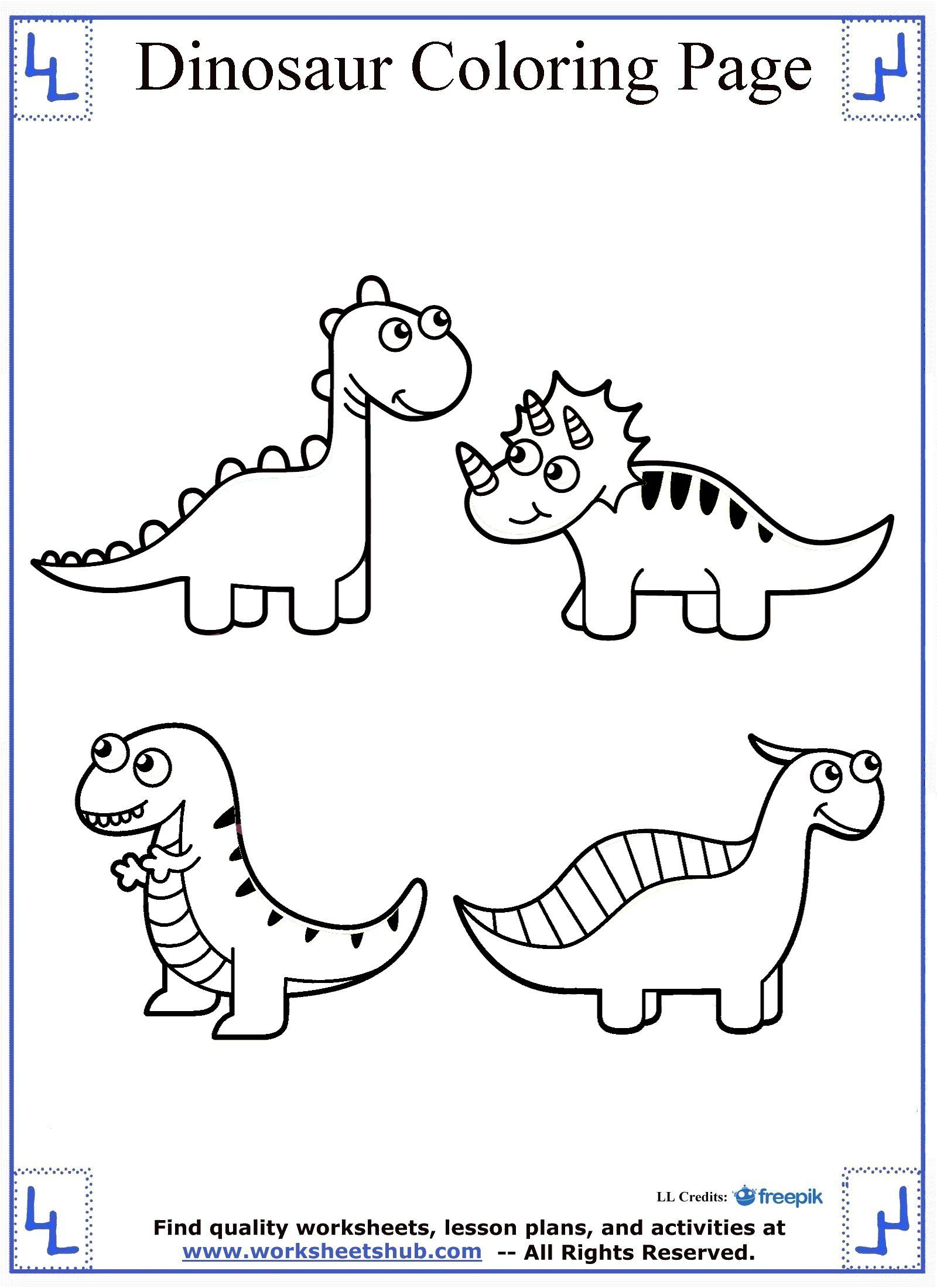 Dinosaur Coloring Page Cute Dinosaur coloring, Train
