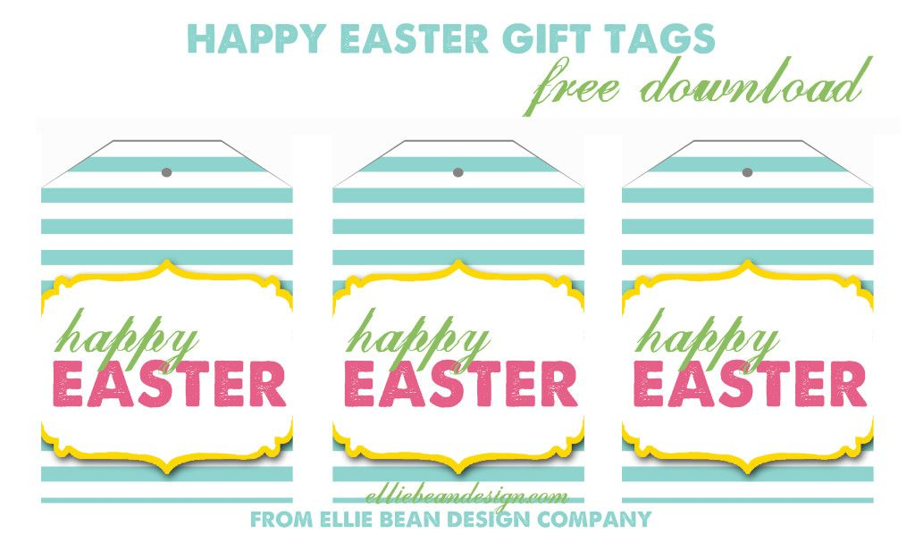 Happy easter gift tags free download from ellie bean design blog happy easter gift tags free download from ellie bean design blog negle Images