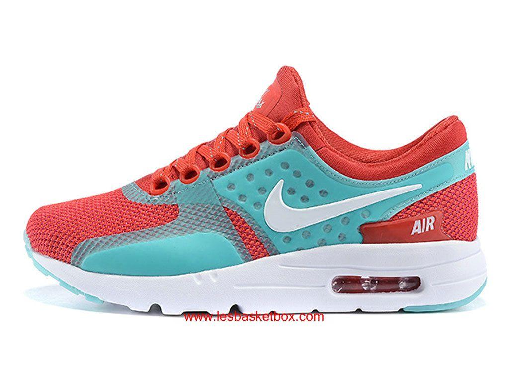 buy popular 8cea3 d70c4 Nike Air Max Zero Rouge Vert Blanc Chaussures Pour Femme Enfant -  1610190335 - Le