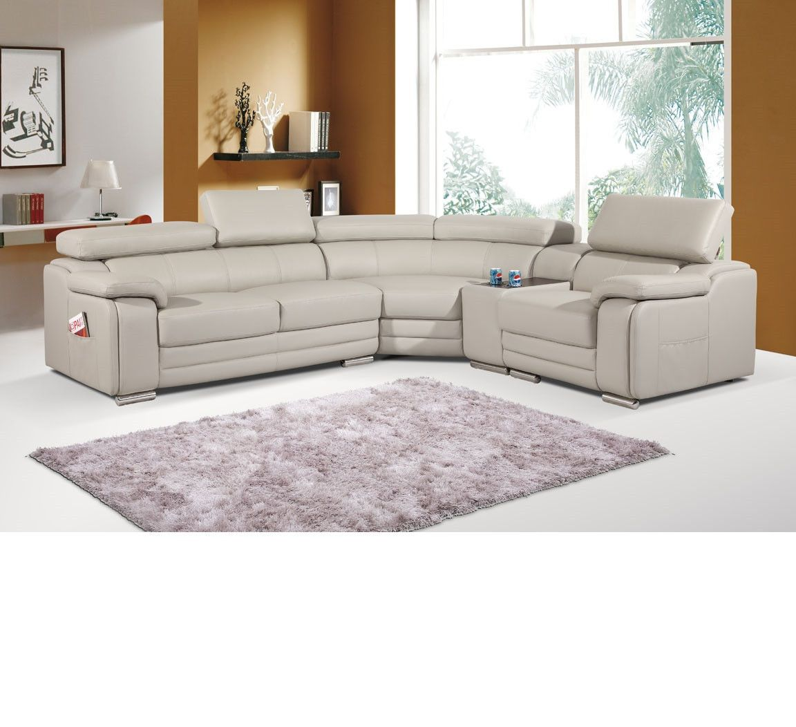 Beige Bonded Leather Sectional Leather Corner Sofa Grey Leather Corner Sofa Sectional Sofa