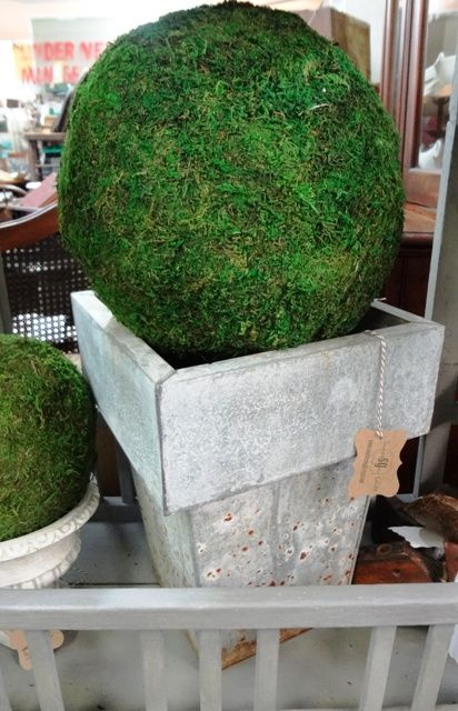 Wonderful square zinc planter.