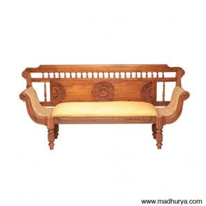 Beautiful Royal Chettinad Sofa Intricately Carved Four Seater Sofa Designed In The  Royal Heritage Make With Teak Wood.