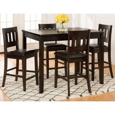 Beau Jofran Dark Rustic Prairie 5 Piece Counter Height Dining Set   923 | Pub Set  Ideas | Pinterest | Pub Set And Dining