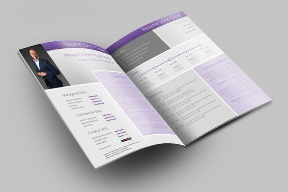 Modern creative MS Word Resume / CV @CleanResume CV Design - resume valley