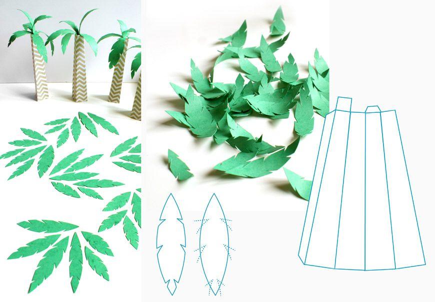 Diy arbre papier palmier pinterestim pinterest for Fabriquer un palmier artificiel
