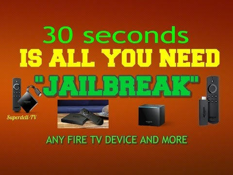 Jailbreak Any Amazon Fire Tv Device In 30 Seconds Or Less Plus More Youtube How To Jailbreak Firestick Fire Tv Amazon Fire Tv