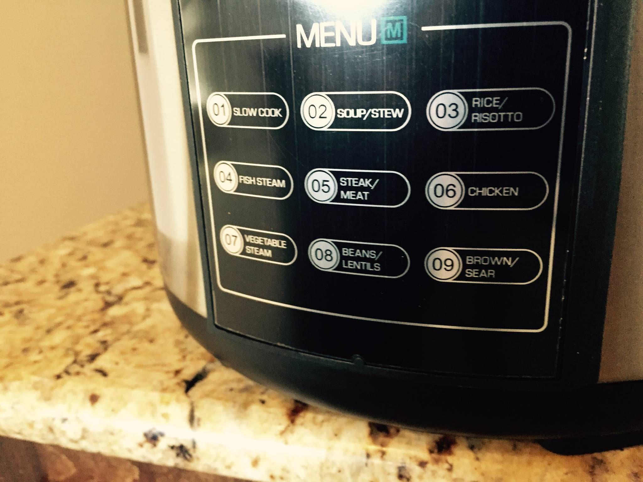 Farberware 7 in 1 programable pressure cooker button menu | pressure ...