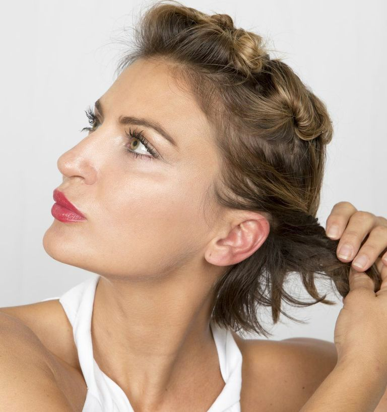 We've got the exact steps to re-create this twisted pixie updo.