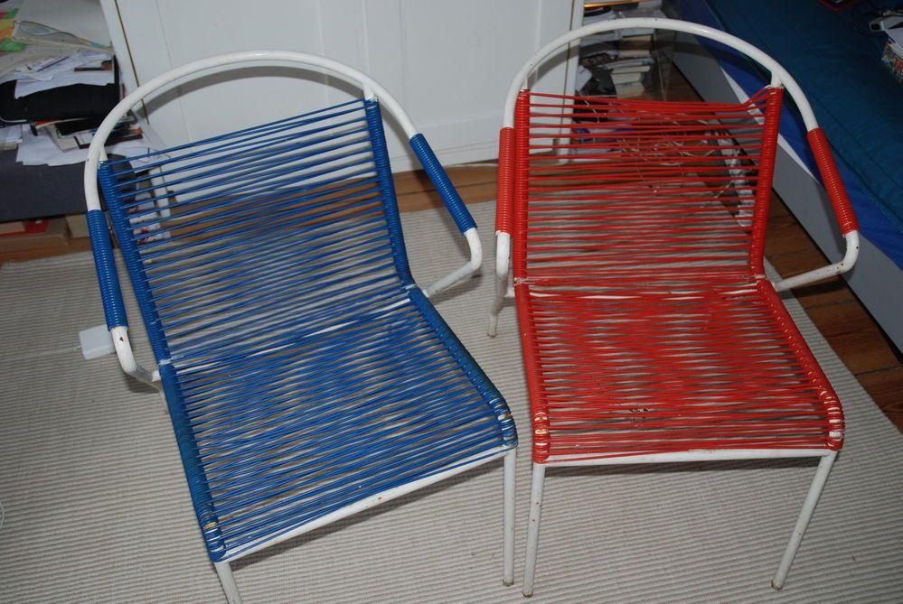 2 x 70er JAHRE GARTENSTUHL SPAGHETTI DESIGN   design - living ...