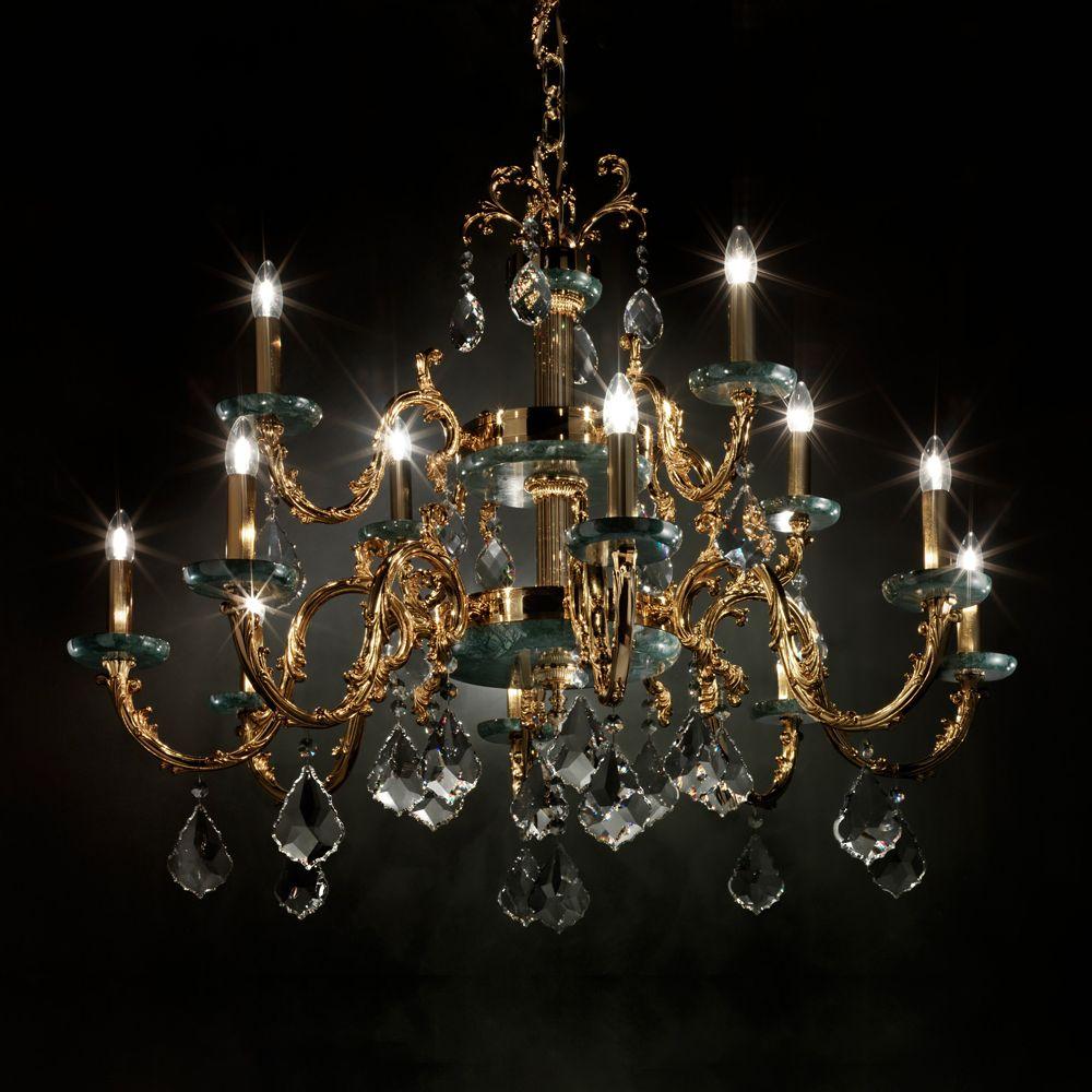 Luxury Italian Marble Gold Chandelier - Juliettes ...