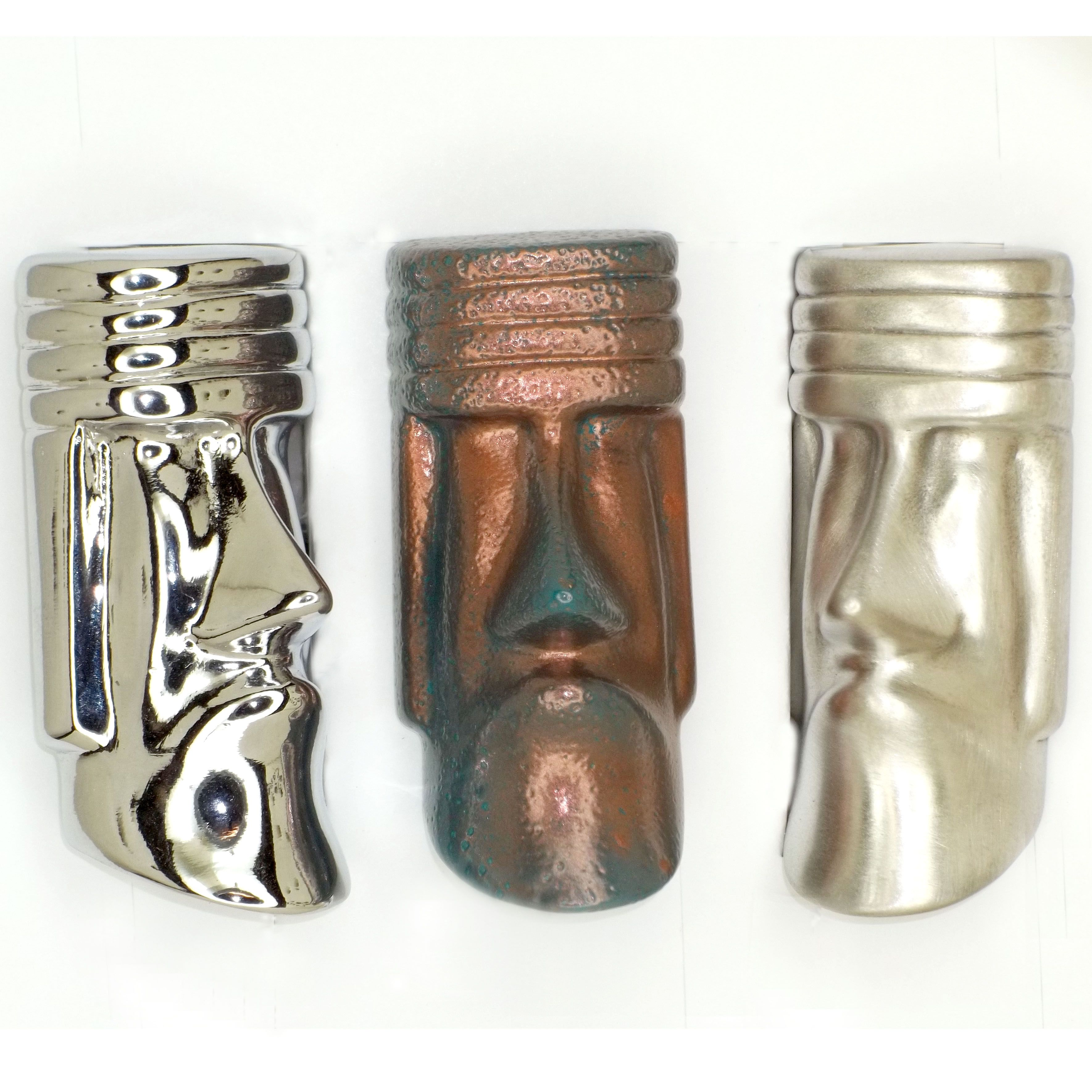 Custom Cabinet Pulls Tiki Head Cabinet Pulls Cast In Fine Pewter Finished In Brushed