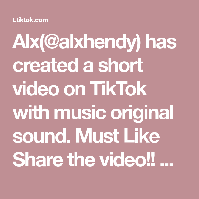 Alx Alxhendy Has Created A Short Video On Tiktok With Music Original Sound Must Like Share The Video Lilhendyfam Who Will Win The Hype Next Join M