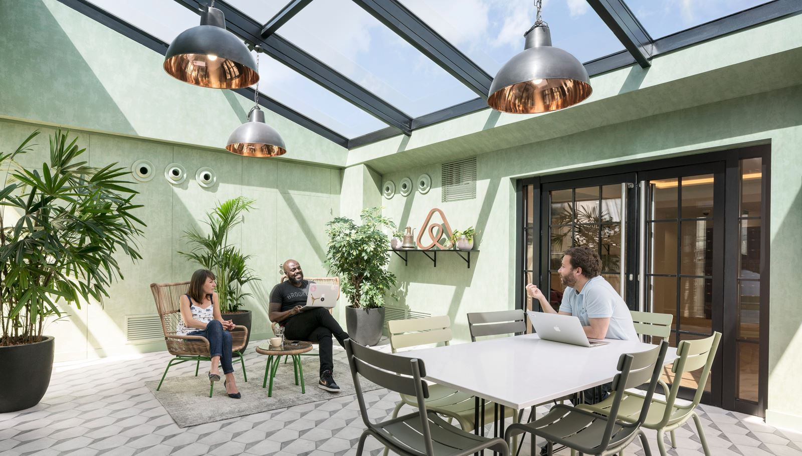 Take a Peek Inside Airbnb's New Loft-Inspired Office Space in Paris - Dwell