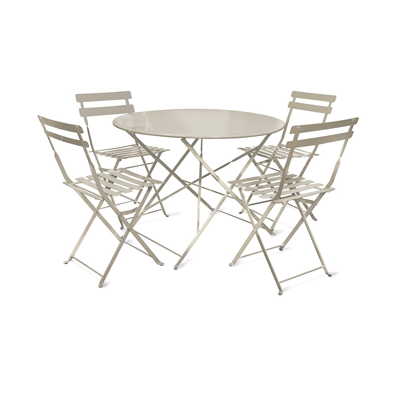 This Garden Trading Large Rive Droite Bistro Set Of Table And 4 Chairs In Clay
