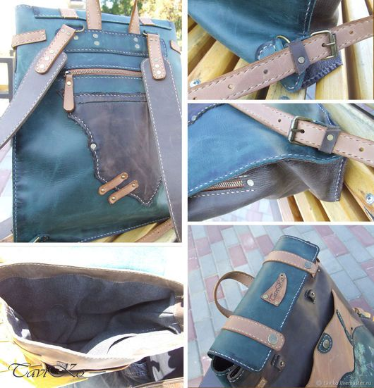 818efb82d686 Рюкзаки ручной работы. Рюкзак ручной работы из кожи Крейзи Хорс ...