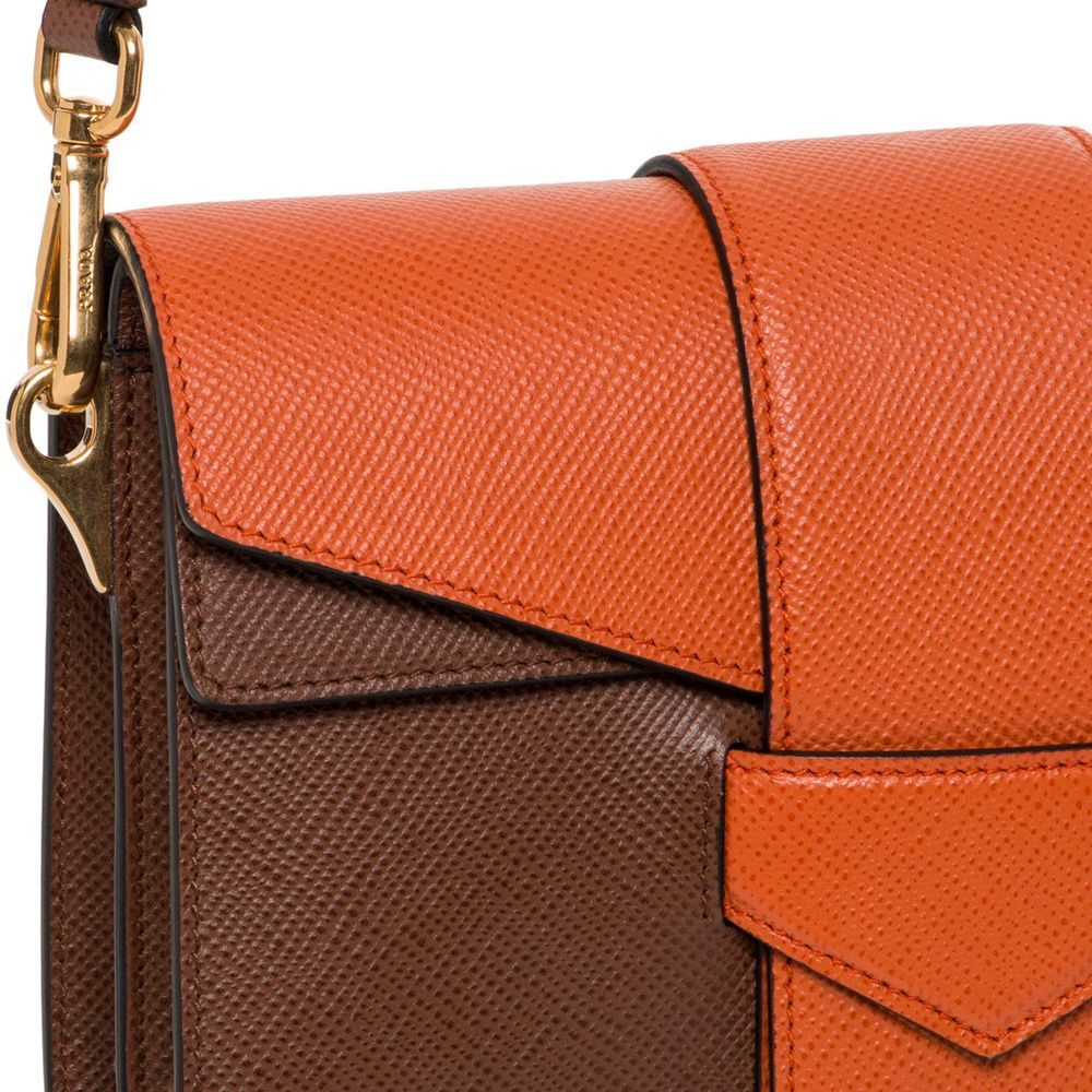 2ae297d76c19 Prada Saffiano Bi-color Orange/ Tan Shoulder Bag - Overstock™ Shopping -  Big Discounts on Prada Designer Handbags