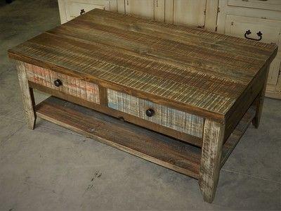 Bon $295 HORIZON COCKTAIL TABLE ROUGH CUT WOOD