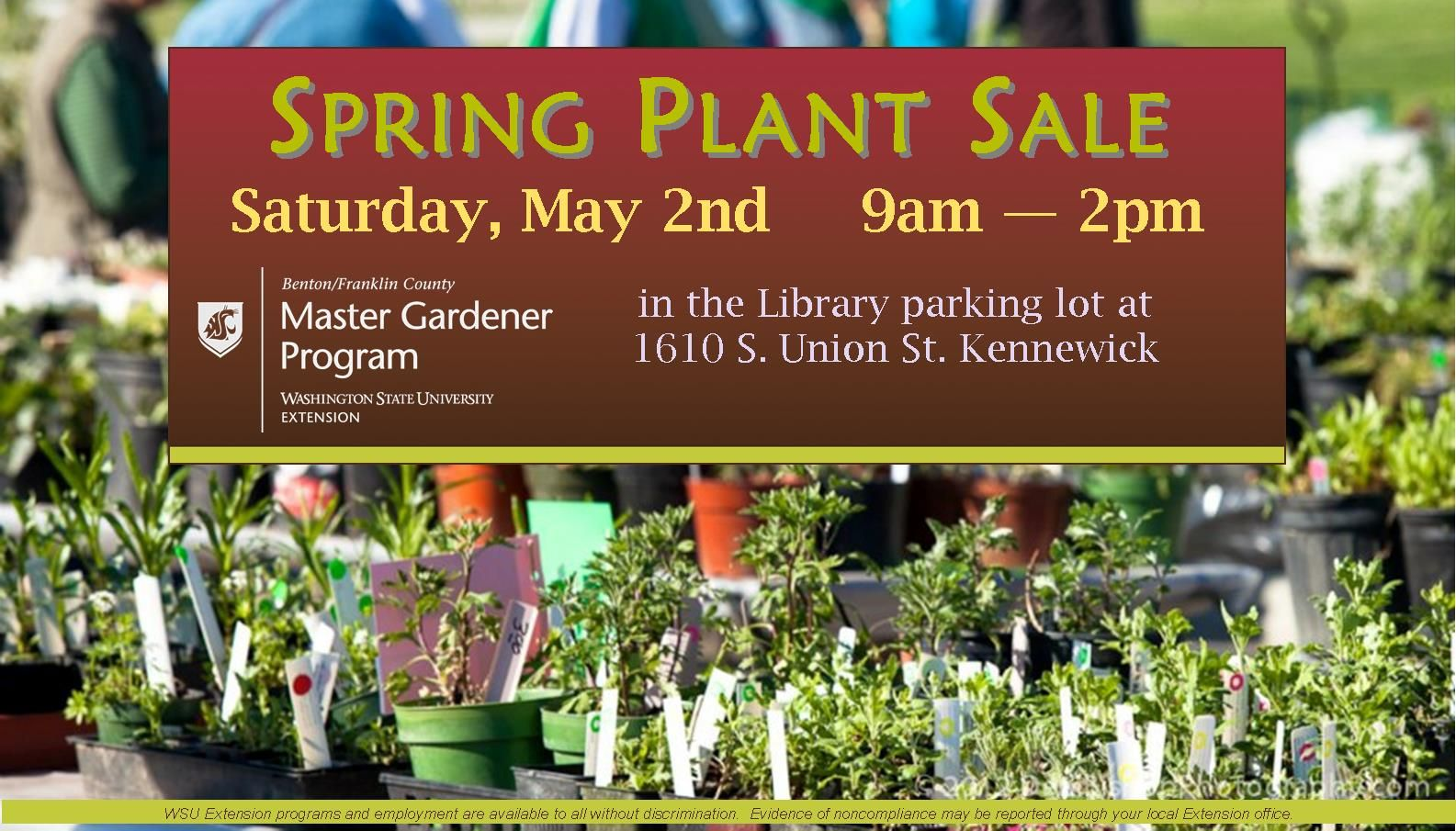 Benton Franklin Counties Washington State University Spring Plants Plant Sale Master Gardener