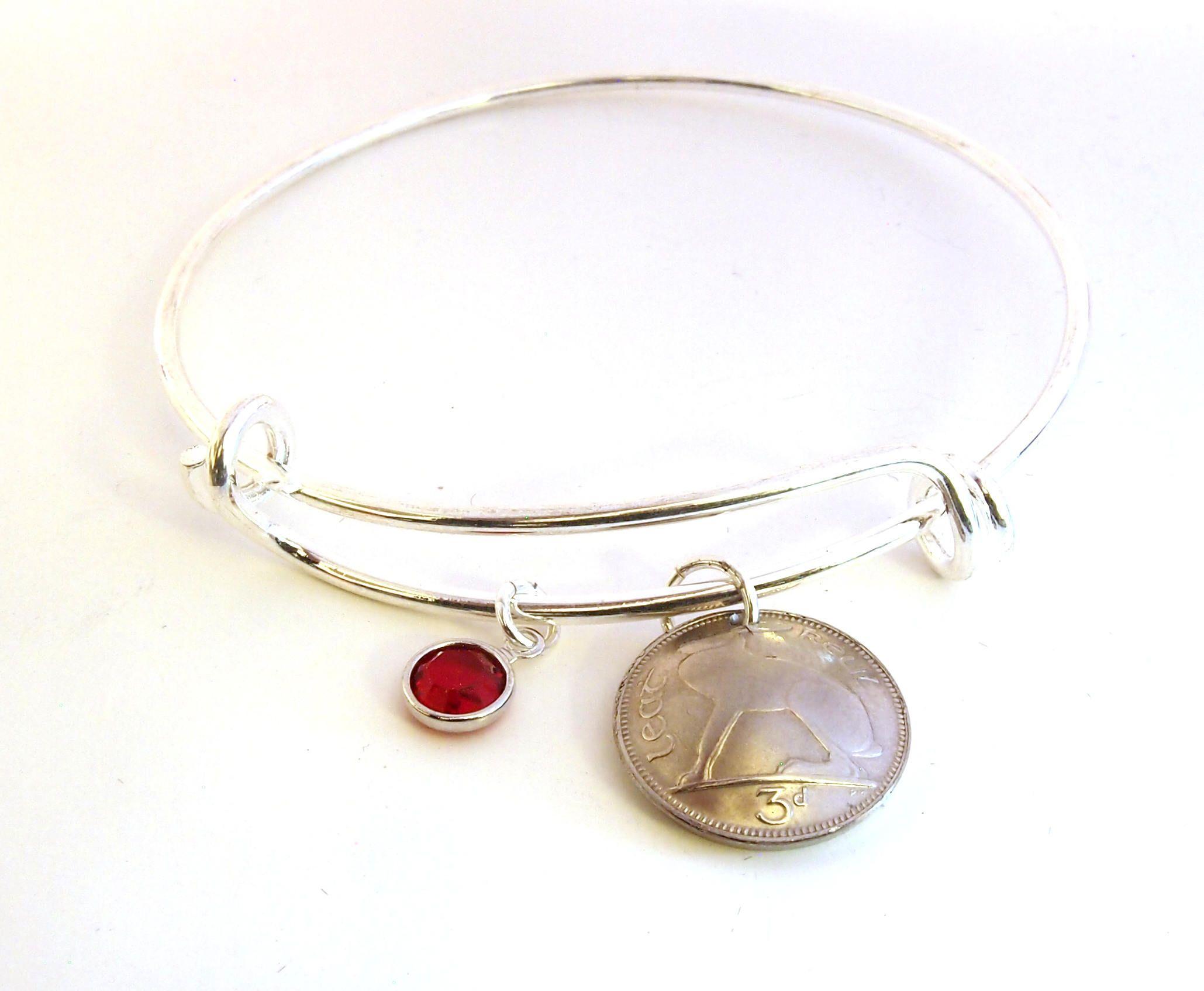 1968 Birthday Gift, Irish Charm Bracelet, 1968 Jewelry
