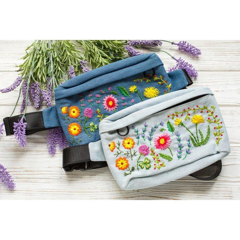 Lotus Flower Fanny Pack  Bum Bag  Belt Bag  Hip Bag  Cross Body Bag  Beach Bag