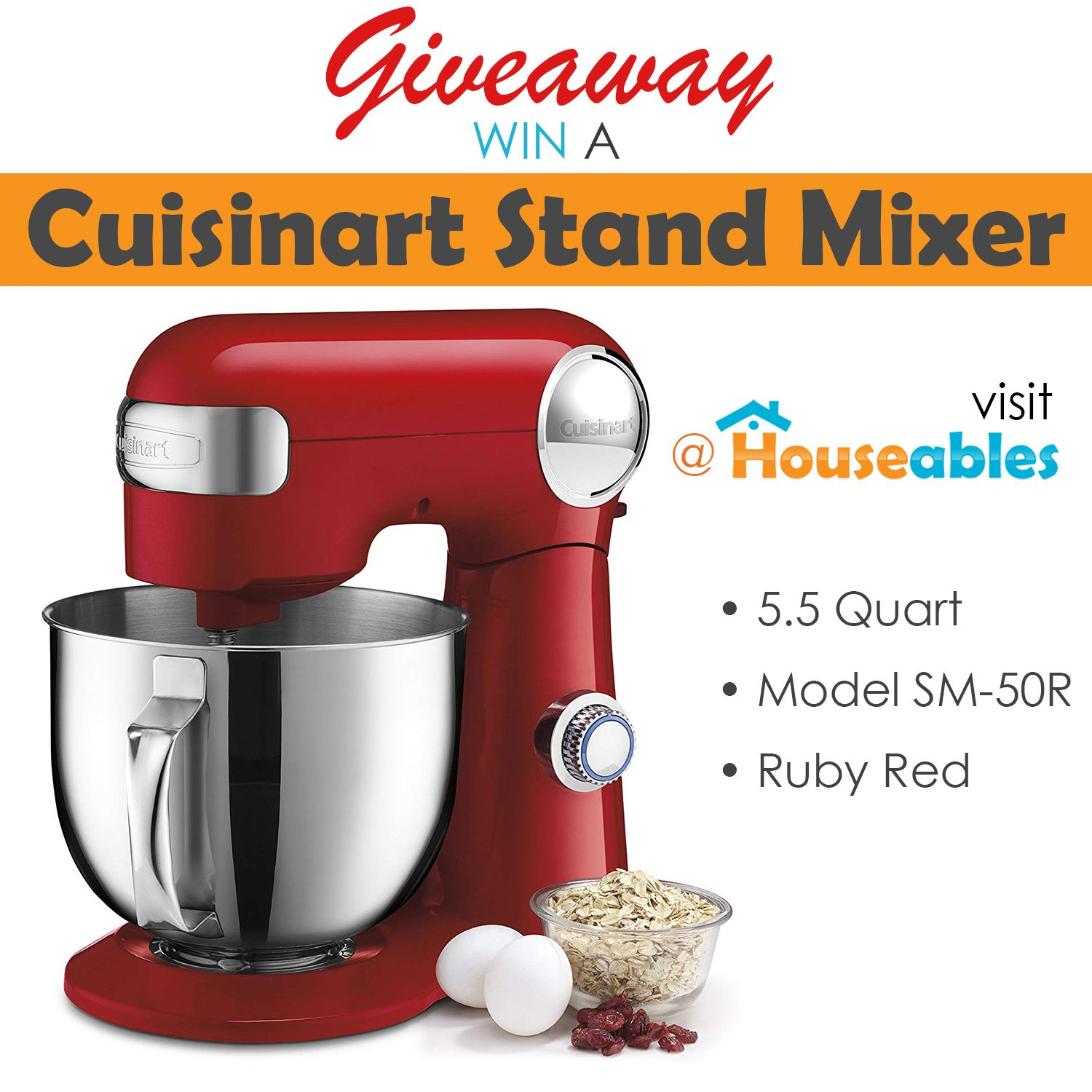 GIVEAWAY: Cuisinart Stand Mixer in 2020 | Mixer, Stand ...
