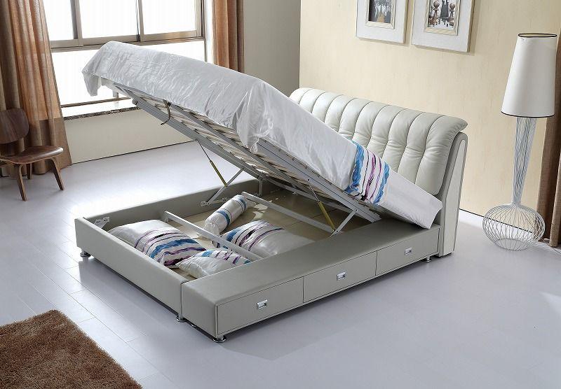 moderne schlafzimmermobel, gasfeder lagerung zeitgenössische echtem leder bett moderne, Design ideen