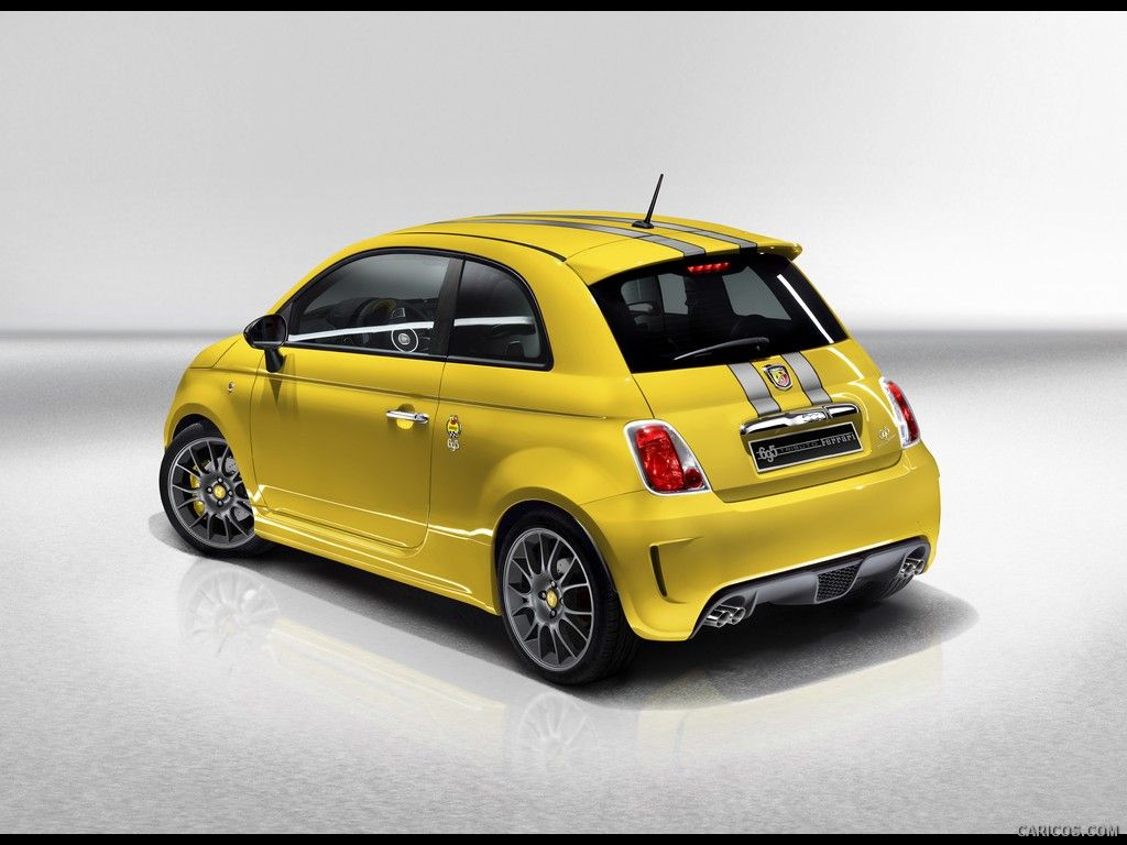 Abarth 695 Tributo Ferrari Yellow Rear Angle Wallpaper 2