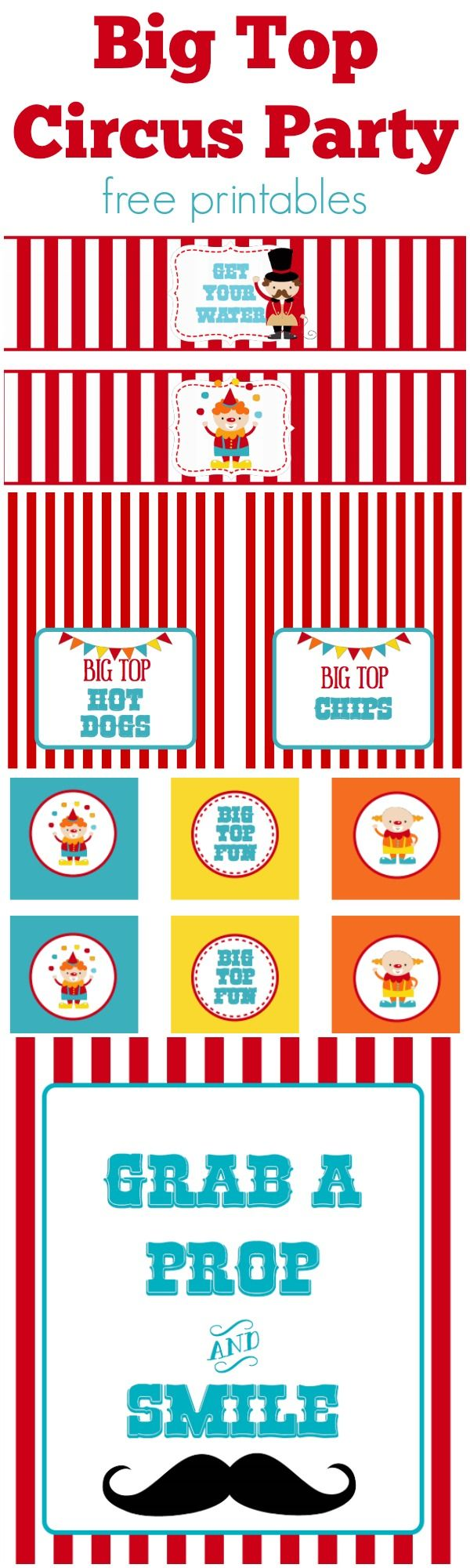 picture about Carnival Printable titled Circus Get together No cost Printables Totally free Printables Circus