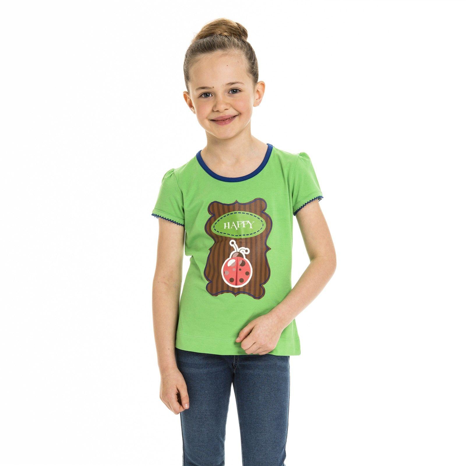 L e-store - Meisje T-shirt met lieveheersbeestje