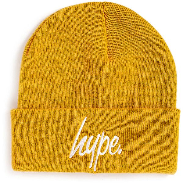 b4c16a06668 Hype Mustard Beanie ( 11) ❤ liked on Polyvore featuring men s fashion